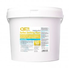 QFS Sanitising Wipes Textured Blue 1500 Wipes Tub