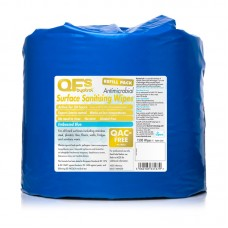 QFS Sanitising Wipes Textured Blue 1000 Wipes refill x2