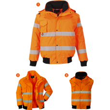 Hi-Vis 3 in 1 Bomber Jacket
