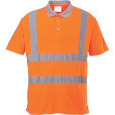 Hi-Vis Ribbed Polo Shirt